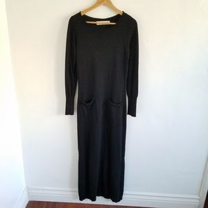 Anthro Sparrow Wool Blend Sweater Maxi Dress Small